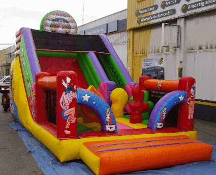 tobogán hinchable para cumpleaños en Alicante